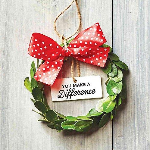 Baudville Holiday Gifts Heartfelt Appreciation Wreath Ornament 2018