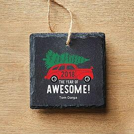 Baudville Holiday Gifts Modern Slate Ornament 2018