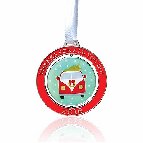 Baudville Holiday Gift Spinner Ornament 2018