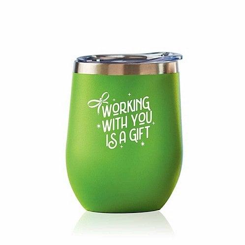 Baudville Holiday Gift Bright Spirits Beverage Tumbler 2018