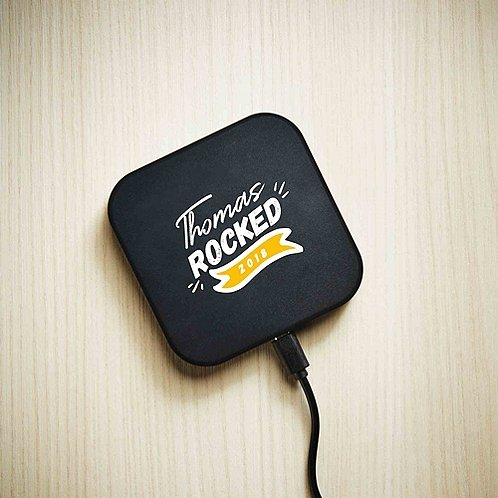 Baudville Holiday Gift Power Up Wireless Qi Charger 2018