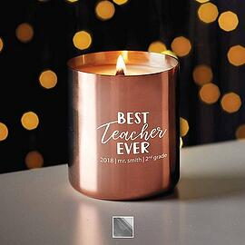 Baudville Holiday Gift Stainless Candle 2018