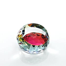 Baudville Holiday Gift Crystal Round Paperweight 2018